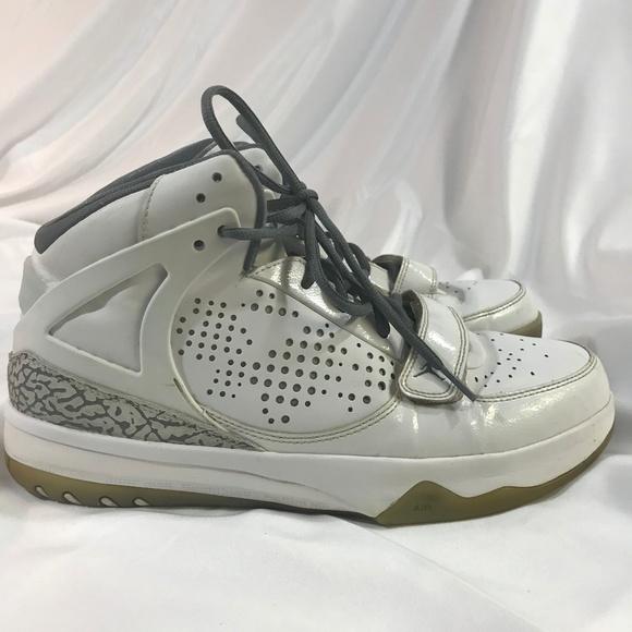 brand new 892b9 2ff0f Jordan Other - JORDAN Phase 23 White Leather Grey Print mens 10.5